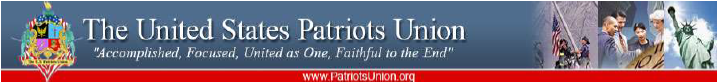 The US Patriots Union banner