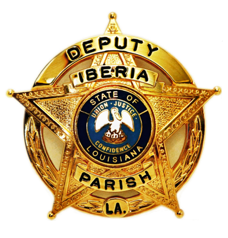 The badge of Sheriff Louis Akal of Iberia Parish, Louisiana